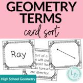 Geometry Terms Card Sort