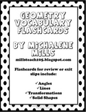Geometry Terms Flashcards/ Entrance/ Exit Cards