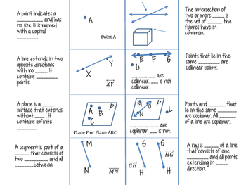 Geometry Terms Foldable
