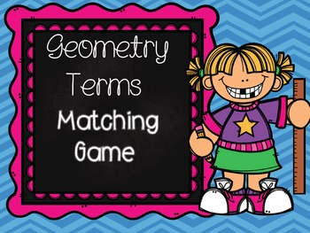 Geometry Terms Matching Game!