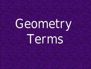 Geometry Terms Review
