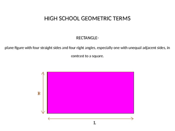 Geometry Terms Review PowerPoint