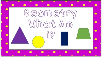 Geometry Terms What Am I?