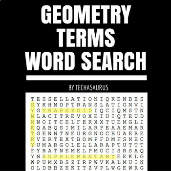 Geometry Terms Word Search #1