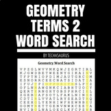 Geometry Vocabulary Word Search #2