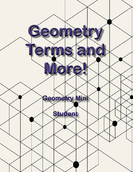 Geometry Terms and More - Secondary Math Digital Mini-Text