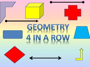 Geometry Terms and Pictures 4-in-a-row