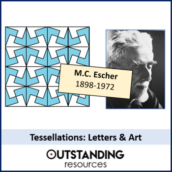 Geometry: Tessellations 2 - Letters & Art / Design (M.C. Escher)