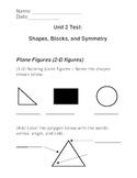 Geometry Test - 2nd Grade VA SOLs - Based on Investigations