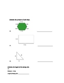 Geometry Test- 3rd grade CCSS aligned 3.G.1, 3.MD.8, 3.MD.5, 3.MD.6, 3.MD.7