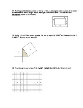 Geometry Test - Areas of Plane Figures