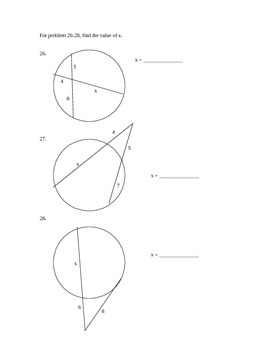 Geometry Test - Circles