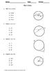 Geometry Test: Circles