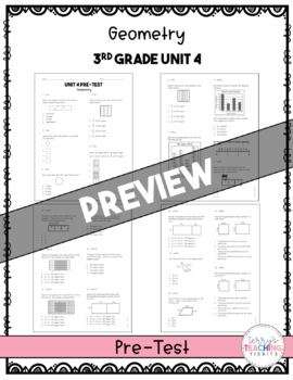 Geometry Test Pack *3rd Grade* {Unit 4}