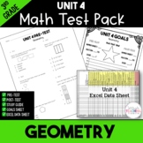 Geometry Test Pack *3rd Grade* {Unit 4}