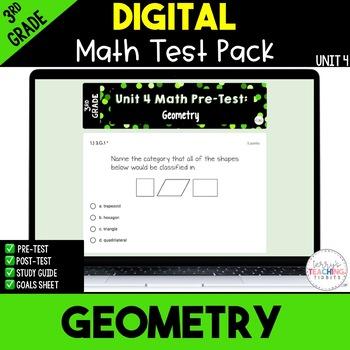 Geometry Test Pack *3rd Grade Unit 4* {Paperless}