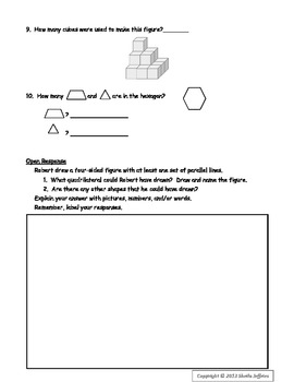 Geometry Test Prep Sheet for Grades 3 and 4