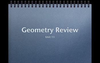 Geometry Test Review