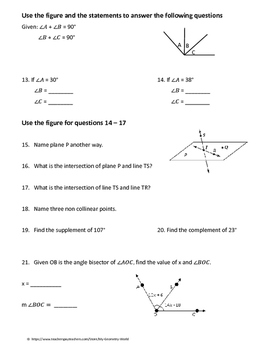 Geometry Test Review: Foundations of Geometry