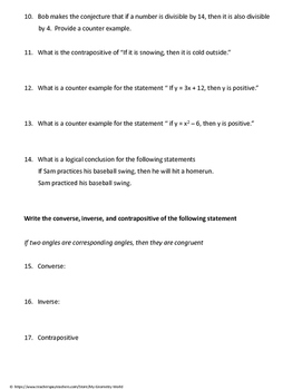 Geometry Test Review: Logical Reasoning
