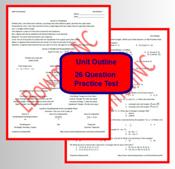 Geometry Test Review (Math 1)