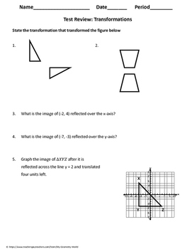 Geometry Test Review: Transformations