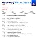 Geometry Test - Tools of Geometry