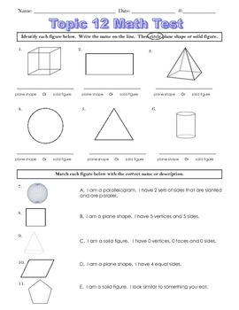 Envision Topic 12- Geometry Test