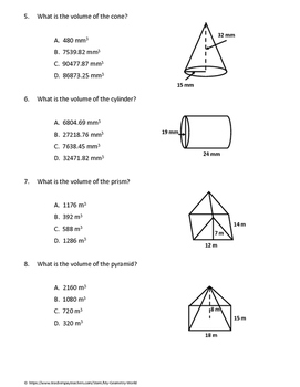 Geometry Test: Volume