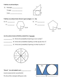 Geometry Test midpoint Pythagorean theorem
