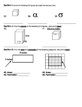 Geometry Tests