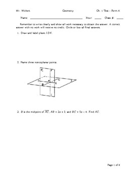 Geometry Tests
