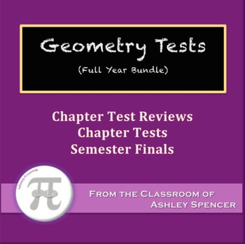 Geometry Tests - Full Year Bundle