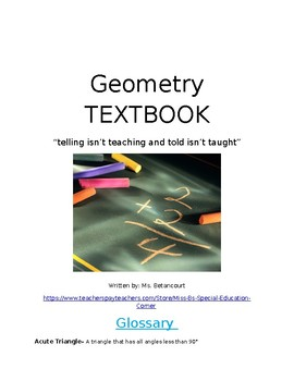 Geometry Text Book