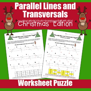 Geometry Christmas Activity - Parallel Lines and Transversals