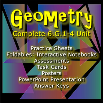 Geometry: The Complete Packaged Unit: 6.G.1-4