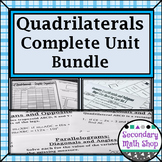 Quadrilaterals - Unit 8:  The Family of Quadrilaterals Complete Unit Bundle