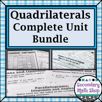Quadrilaterals - Unit 8:  The Family of Quadrilaterals Complete Unit Bundle