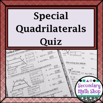 Quadrilaterals - The Family of Quadrilaterals: Special Qua