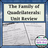 Quadrilaterals -  The Family of Quadrilaterals Unit Review