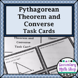 Right Triangles - The Pythagorean Theorem and Its Converse Task Cards