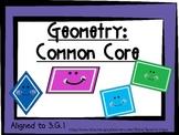 Geometry: Third Grade (3.G.1)