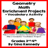 Geometry Projects, Plus: Vocabulary Activity