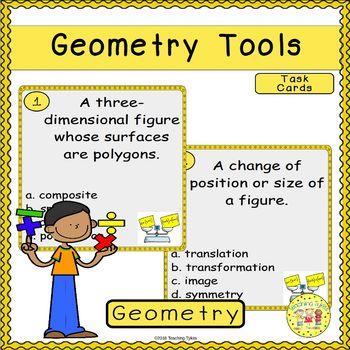 Geometry Tools Task Cards