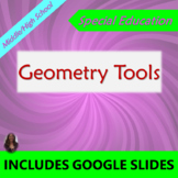 Geometry Tools Unit for Special Ed with lesson plans
