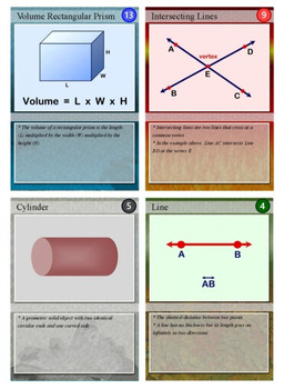 Geometry Trading Cards, Bingo/Slideshow and Puzzle Combo