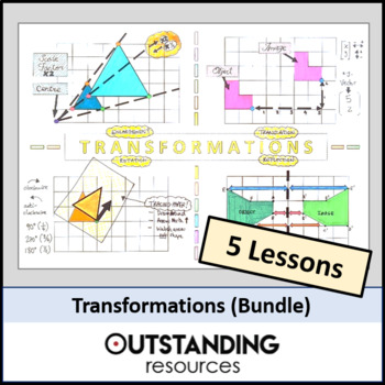 Geometry: Transformations BUNDLE - 4 to 5 Lessons