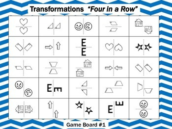 Geometry Transformations- Four in a Row Game