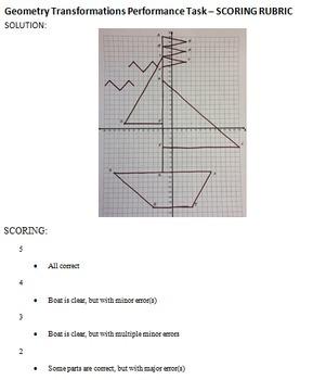 Geometry Transformations Performance Task