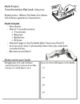 Geometry Transformations Project: Flip book